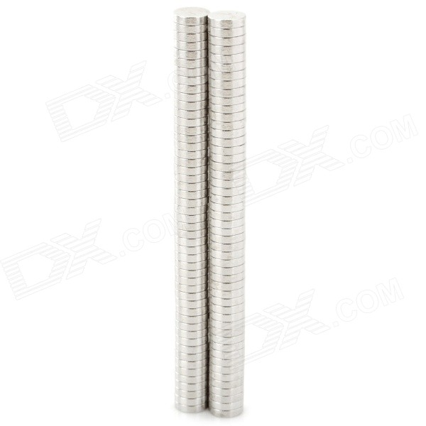 N35 6 x 1.4mm Round Shaped NdFeB Magnets - Silver (100 PCS)