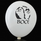 Halloween Decorative Latex LED Balloons - White (4 PCS / 2 x AG3)