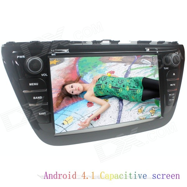 LsqSTAR 8 Capacitive Screen Android4.2 Car DVD Player w/ GPS WiFi IPOD SWC AUX for Suzuki SX4 2014 lsqstar 8 touch screen 2 din car dvd player w gps fm ipod rds canbus aux for mitsubishi outlander