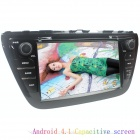 "LsqSTAR 8"" Capacitive Screen Android4.2 Car DVD Player w/ GPS WiFi IPOD SWC AUX for Suzuki SX4 2014"