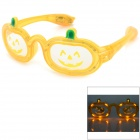 Halloween Pumpkin estilo 3-Mode LED Glasses - Translucent Orange (3 x AG13)