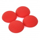 Silicone Key Protector Thumb Grips Joystick Caps for PS4 Xbox One Controller - Red (4 PCS)