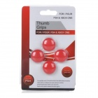 Thumb Grips Joystick Caps for PS4 / Xbox One Controller - Red (4PCS)