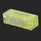 DIY 1-to-1 Strip-free Electric Wire Cable Quick Joint / Connector - Yellow + Transparent