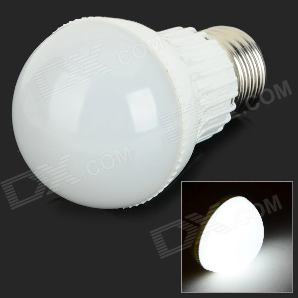 G-003 E27 3W 280lm 6000K 6-SMD 5730 LED White Light Bulb - White (AC 85~265V)