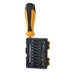 R'DEER RT-1616 16-IN-1 Magnetic Screwdriver Repair Tool Kit - Black + Yellow