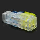 DIY 2-to-2 Strip-free Electric Wire Cable Quick Joint / Connector - Yellow + Blue