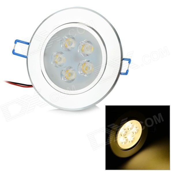 5W 400LM 3000K 5 -LED Quente teto White Light Lamp - Prata ( AC 85 ~ 265V )