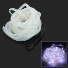 HH56 3W 150lm 6500K 100-LED White Net Pipe Style Light String - White + Gold (5M / DC 12V)