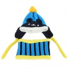 ZEA-RTM0911-1 Children's Panda Style Super Soft Autumn / Winter Wear Cap + Scarf Set - Blue