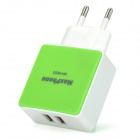 Maxphone MH-M535 Dual-USB AC Power Adapter - White + Green (EU Plug)