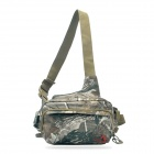 JUNGLEMAN Outdoor Thickened Seismic Messenger Bag for Fishing - Jungle Camouflage