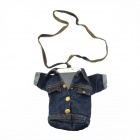 Large Creative Denim Jacket Style Wallet / Shoulder Bag for Women - Blue