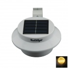 YouOKLight  YL0415 Waterproof 0.3W 40lm 3-LED Warm White Solar Powered Garden Wall Lamp - White