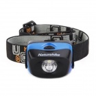 Naturehike 122lm 3-Mode White Light 1-LED Waterproof Outdoor Headlamp - Blue + Black (3 x AAA)