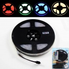KINFIRE Waterproof 72W 300-SMD 5050 LED RGB Light Strip + 44-Key Controller + US Plug Adapter
