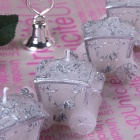 FEIS Roses Carriage Shaped Candle - White + Pink + Multi-Color