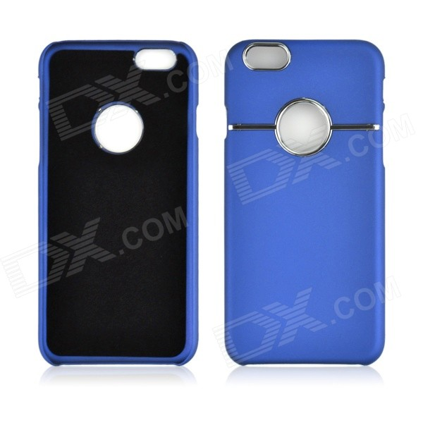 "Angibabe Hard Plastic Back Cover w/ Chrome Metal Ring Hole for IPHONE 6 4.7"" - Blue"