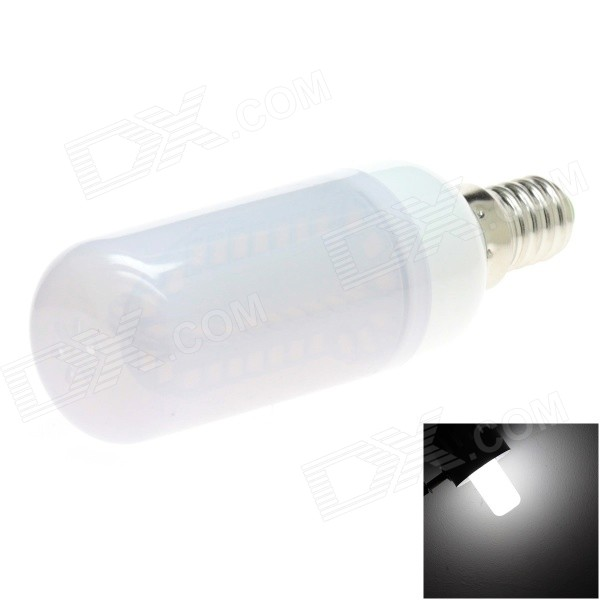 HONSCO E14 5W 400lm 6000K 84-SMD 2835 LED White Light Frosted Cover Corn Bulb (AC 85~265V) honsco e27 5w 400lm 3000k 84 smd 2835 led warm white light bulb white silver ac 85 265v