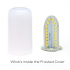 B22 5W 400lm 84-SMD 2835 LED Cool White Light Frosted Cover Corn Bulb (AC 85~265V)