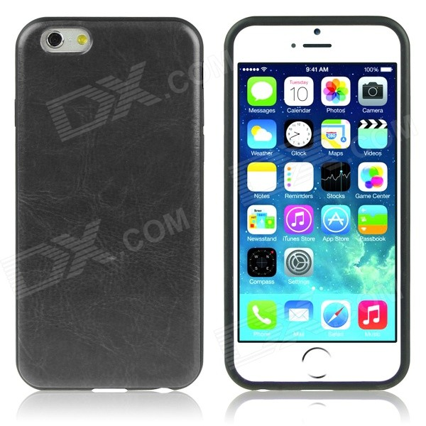 ENKAY Protective Soft Back Cover Case for IPHONE 6 PLUS 5.5 - Black protective silicone soft back case cover for iphone 5 white