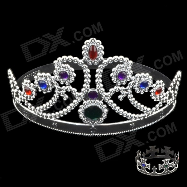 Queen and King Role Play PVC + Acrylic Headwears - Silver (2 PCS)