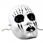 K5322 Slipknot Joey Mask Halloween / Cosplay / Costume Party - Valkoinen