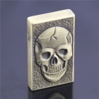 Creative Skull Style Windproof Butane Jet Gas Lighter w/ Money Detector + Lighting Function - Bronze