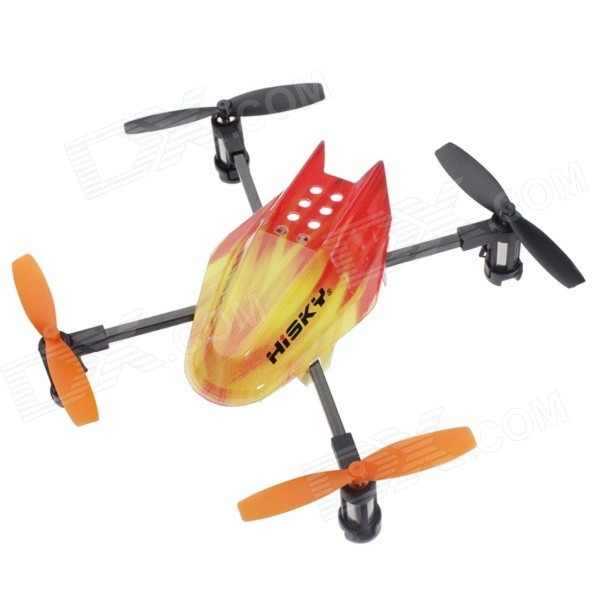 HiSKY HMX120 Mini 2.4GHz 4-CH R/C Quadcopter Toy - Orange wltoys wl r4 2 9 lcd 6 axis multi function remote controller for r c toy black 4 x aa