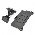 360 Degree Rotation G-Tube Car Mount Holder w/ Suction Cup for IPHONE 6 PLUS - Black