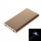 REDWAY PBS002-100 ultra-mince 10000mAh double USB Li-polymère externe Power Bank w / LED Light-Or