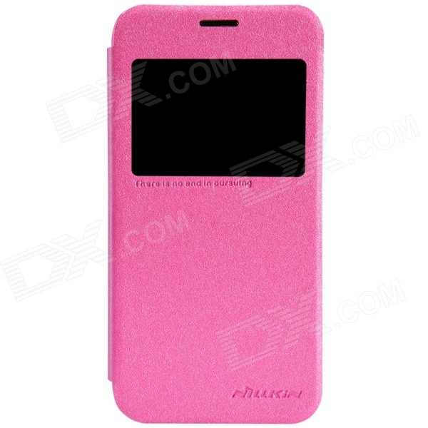 NILLKIN Protective PU Leather + PC Case Cover for Samsung Galaxy S5 Mini - Deep Pink чехол для samsung g900f g900fd galaxy s5 nillkin sparkle leather case белый