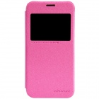 NILLKIN Protective PU Leather + PC Case Cover for Samsung Galaxy S5 Mini - Deep Pink