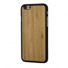 "Protective Bamboo Back Cover Case for IPHONE 6 4.7"" - Yellow + Black"
