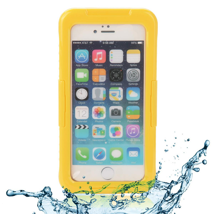EPGATE 6 Meters Underwater Protective Waterproof Case for IPHONE 6 4.7  - Yellow + Transparent ip68 underwater waterproof case for iphone 7 6s 6 dirt dust snow proof cover pink