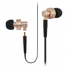 ipipoo ip-DC2Hi In-Ear Earphones w/ Replaceable Wire + Mic. + Next / Volume Control - Champagne
