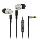 ipipoo ip-DC2Hi In-Ear Earphones w/ Replaceable Wire + Mic. + Next / Volume Control - Silver + Black