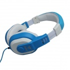 VYKON MQ98 3.5mm Jack Wired Foldaway Stereo Headphone for IPHONE / IPAD / IPOD + More - Blue + White