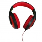 VYKON MQ98 3.5mm Jack Wired Foldaway Stereo Headphone for IPHONE / IPAD / IPOD + More - Red + Black