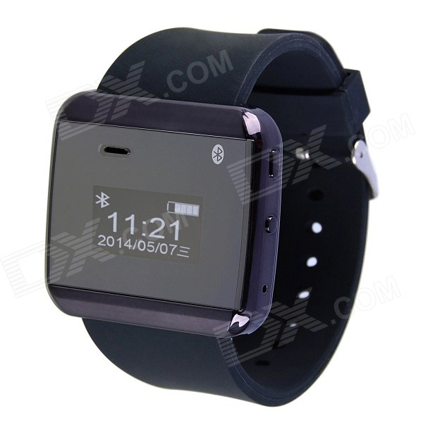 Aoluguya V2 Smart Watch Phone w/ 0.99'' Screen, R/C Shutter Release, Bluetooth, Stopwatch - Black