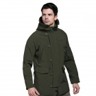 N-116 Men's Outdoor Sports Water Resistant Windproof Polyester + Spandex Jacket - Army Green (L)