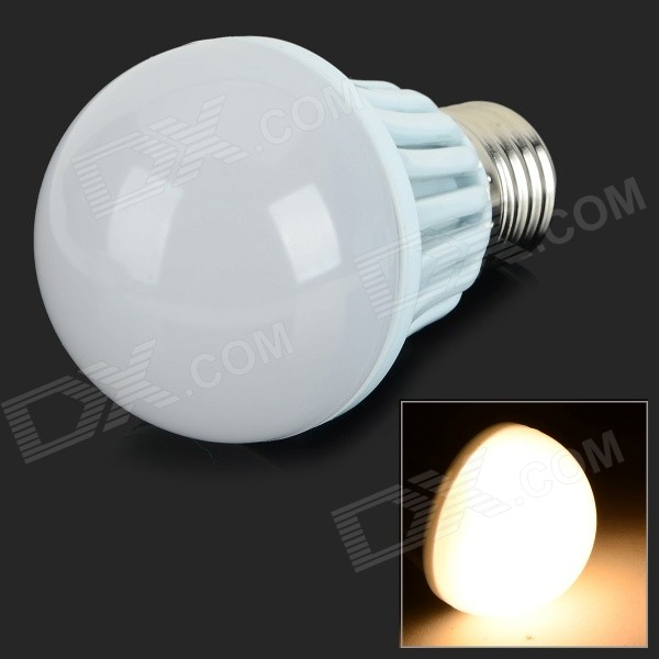 G-009 E27 9W 630LM 3500K COB Warm White Light Lamp - White (AC 85~265V)