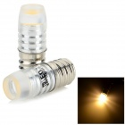 JRLED E12 1.5W 100LM 3200K Warm White Light COB Mini Spotlights - Silver (2 PCS / DC 12V)
