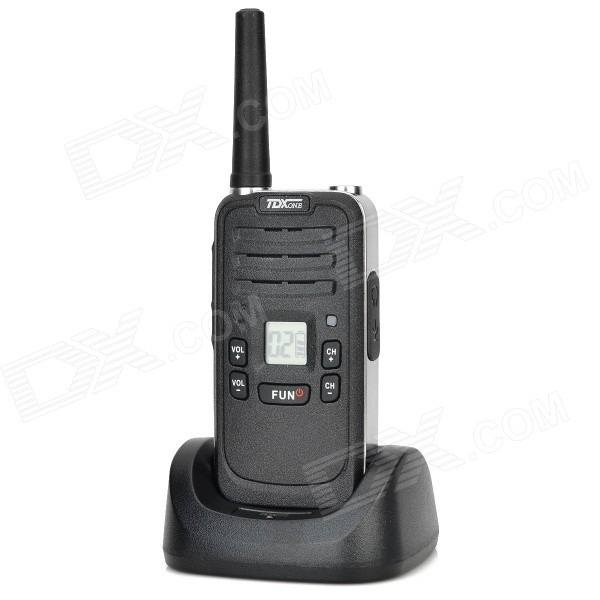 TDX Q7 0.7 Screen 480MHz 99-CH Walkie Talkie w/ FM / Flashlight - Black zastone t 2000 uhf16 ch radio walkie talkie w flashlight black