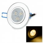 G-003 3W 240lm 3000K 3-LED Warm White Light Ceiling Lamp - Silver (AC 85~265V)