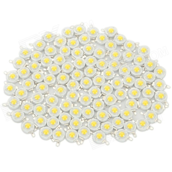 JRLED 1W 90LM 3300K Warm White Light Lamp Beads Set - White + Yellow (3.0~3.2V / 100 PCS)
