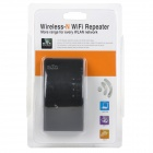 Portable 2.4GHz 300Mbps Wi-Fi Repeater - Black (EU Plug)