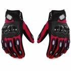 PRO MCS15 Cycling Microfiber + Lycra Full-Finger Gloves - Red + Black (L / Pair)