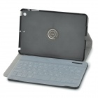 Protective Bluetooth v3.0 59-Key Keyboard w/ PU Leather Case + Keyboard Film for IPAD MINI - Black