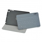 Bluetooth v3.0 Protective Teclado 59-Key w / PU Leather Case + Film Teclado para IPAD MINI - Preto